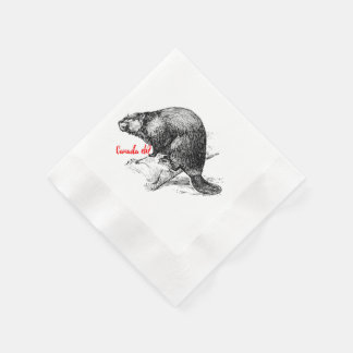 Canada Eh? Beaver napkins Lighthouse Route Disposable Napkin