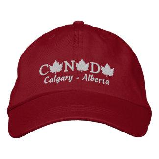 Canada Embroidered Red Ball Cap - Calgary Alberta