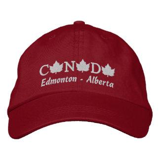 Canada Embroidered Red Ball Cap - Edmonton Alberta