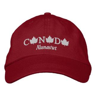 Canada Embroidered Red Ball Cap - Nunavut