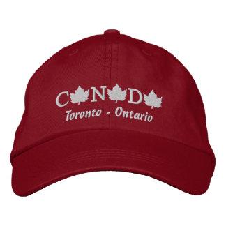 Canada Embroidered Red Ball Cap - Toronto, Ontario