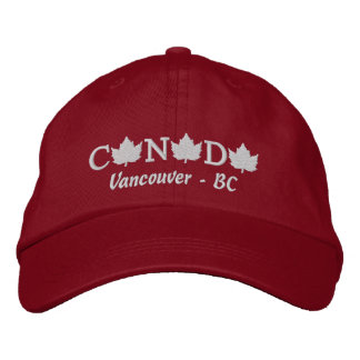 Canada Embroidered Red Ball Cap - Vancouver BC