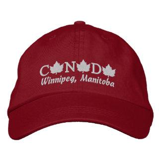 Canada Embroidered Red Ball Cap - Winnipeg, Manito