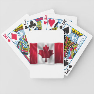 Canada Flag Canadian Country Emblem Leaf Maple Bicycle Playing Cards