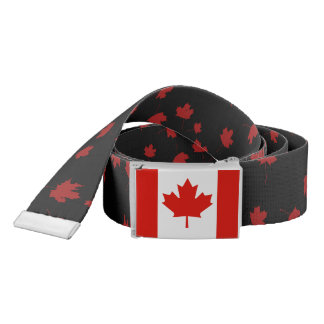 Canada flag Canadian pride red maple leaf belt