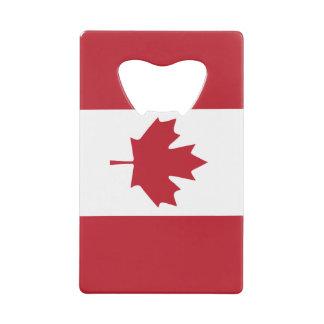 Canada Flag Credit Card Bottle Opener