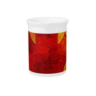 Canada Flag Grunge Background Illustration Pitcher