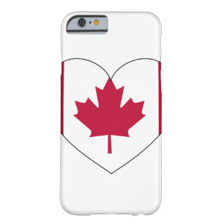 Canada Flag Heart Barely There iPhone 6 Case