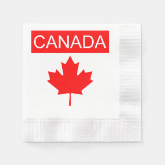 Canada Flag Napkins Lighthouse Route Disposable Serviette