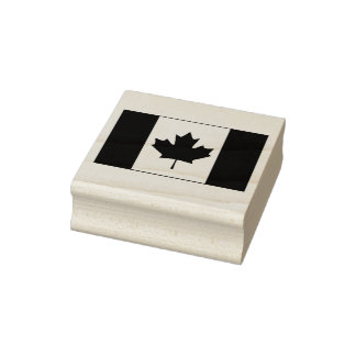 Canada Flag Rubber Stamp