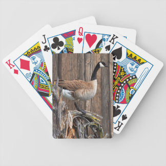 CANADA GOOSE ON BARN BOARD BICYCLE PLAYING CARDS