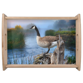 CANADA GOOSE ON THE SHASTA SERVING PLATTERS