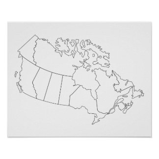 Canada Map Outline Poster