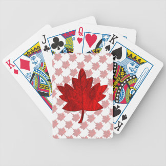 Canada-Maple Leaf by Shirley Taylor Bicycle Playing Cards