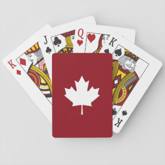 Canada Maple Leaf Playing Cards - Reverse Colors
