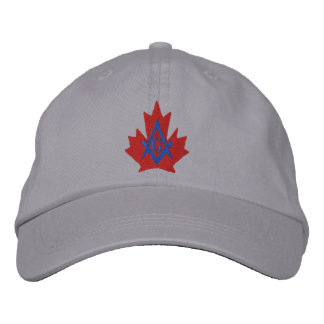 Canada Masonic Embroidered Embroidered Baseball Cap