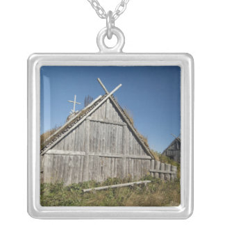 Canada, Newfoundland and Labrador, L'Anse Aux 3 Silver Plated Necklace
