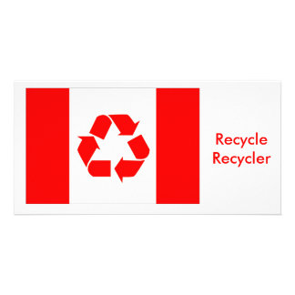 Canada recycle flag card