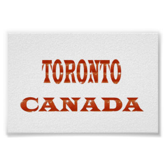 CANADA TORONTO Poster Fashion GIFTS