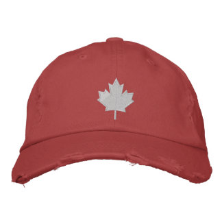 Canada's Leaf Embroidered Baseball Caps