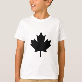 Canadian Black Maple Leaf Design T-Shirt