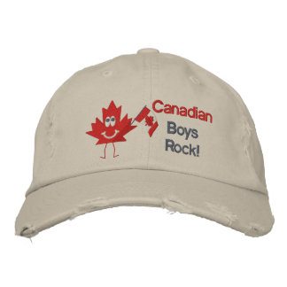 Canadian Boys Rock Embroidered Hats