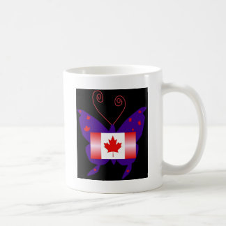 Canadian Diva Butterfly Basic White Mug