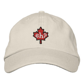 Canadian Eh? Embroidery Maple Leaf Embroidered Baseball Cap