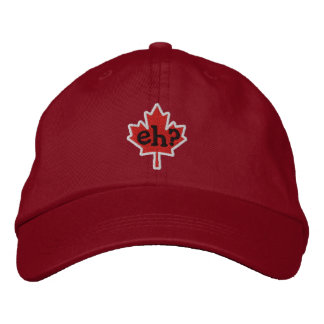 Canadian Eh? Embroidery Maple Leaf Embroidered Hats