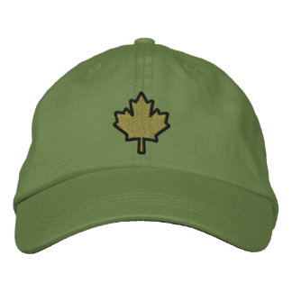 Canadian Embroidery Embroidered Maple Leaf Baseball Cap