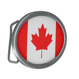 Canadian Flag Belt Buckle
