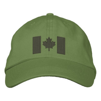 Canadian Flag Embroidery Embroidered Baseball Caps