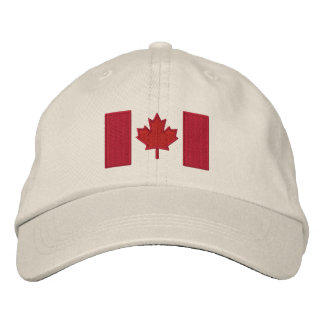 Canadian Flag Embroidery Embroidered Cap