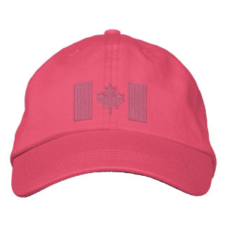 Canadian Flag Embroidery Embroidered Hat