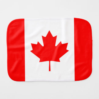 Canadian Flag of Canada Red Maple Leaf Burpee Burp Cloth