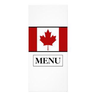 Canadian Flag Wedding Menu