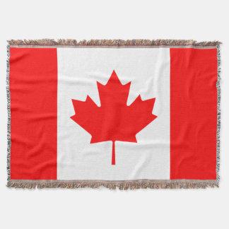 Canadian flag woven throw blanket | Canada leaf