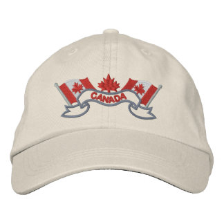 Canadian Flags Hat Embroidered Cap