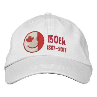 Canadian Happy Face 150th Anniversary Embroidered Embroidered Hat