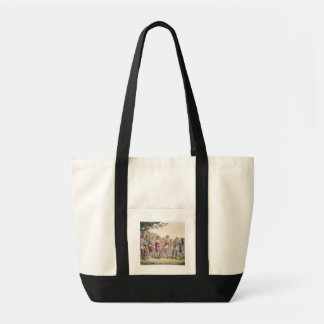 Canadian Indian dance in the evening (colour engra Tote Bag