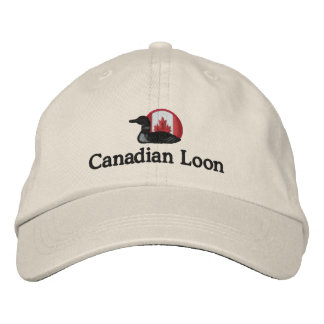 Canadian Loon Funny Customizable Embroidered Hats