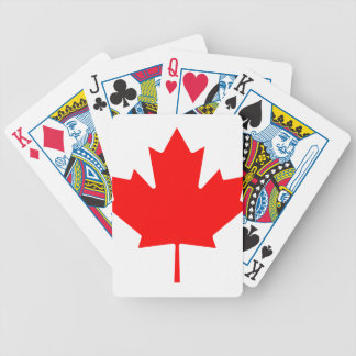 Canadian Maple Leaf Bicycle Playing Cards
