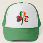 Canadian Shamrock Flag Trucker Hat