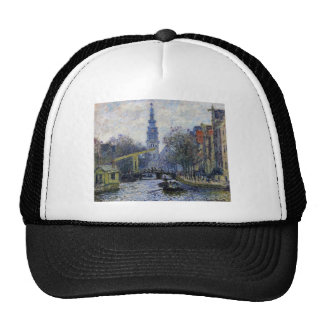 Canal in Amsterdam by Claude Monet Cap