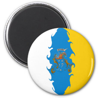 Canary Islands Gnarly Flag Magnet