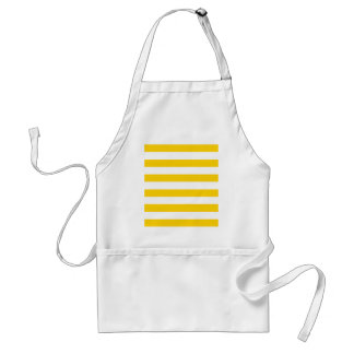 Canary Yellow And White Horizontal Large Stripes Apron