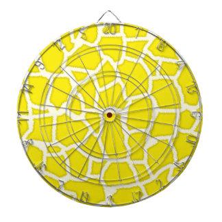Canary Yellow Giraffe Animal Print Dartboard