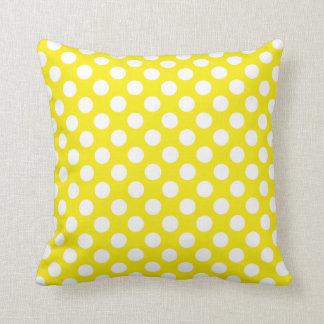 Canary Yellow Polka Dots Pillows