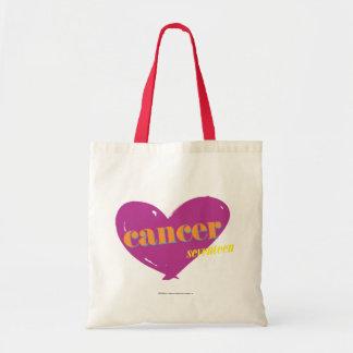 Cancer 2 budget tote bag
