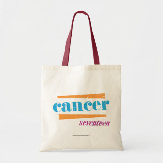 Cancer Aqua Budget Tote Bag